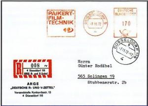 Sonder-Ganzsache 100 Jahre R-Zettel